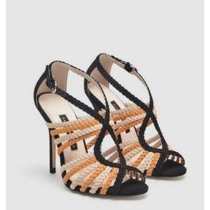 Zara caged heels